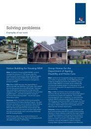 Solving problems: click here to download examples (235k) - Landcom