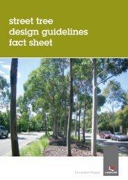street tree design guidelines fact sheet - Landcom