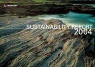 SUSTAINABILITY REPORT - Landcom