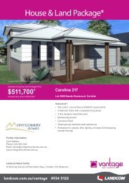 House & Land Package* - Landcom