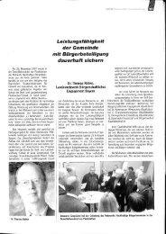 Beitrag in der Zeitschrift des Bayerischen Gemeindetags