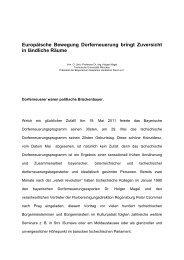 Europäische Bewegung Dorferneuerung bringt Zuversicht in ...