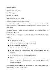 Dear Prof. Magel, Dear Mr. Dean Prof. Vogt, Dear Mr. Lange, Dear ...