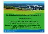 Klimaschutz und Wertschöpfung - Ländliche Entwicklung in Bayern