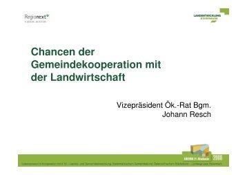 Vizepräsident ÖR Johann Resch - Landentwicklung - Steiermark