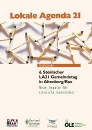 Broschüre zum 6. Lokalen Agenda 21-Gemeindetag in Altenberg/Rax