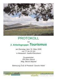PROTOKOLL - Landentwicklung