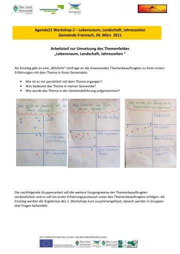 Protokoll 2 Lebensraum & Jahreszeiten - Landentwicklung