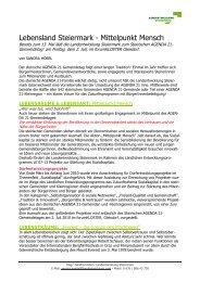 Steirischer AGENDA 21-Gemeindetag 2010 - Landentwicklung ...