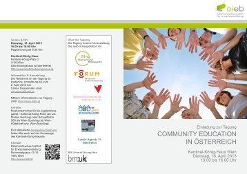 COMMUNITY EDUCATION IN ÖSTERREICH - Landentwicklung