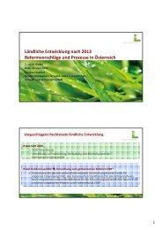 Ländliche Entwicklung - Von alten Wegen auf ... - Landentwicklung