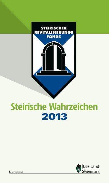 Folder Steirische Wahrzeichen 2013 - Landentwicklung - Steiermark