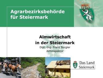 Almwirtschaft in der Steiermark - Landentwicklung