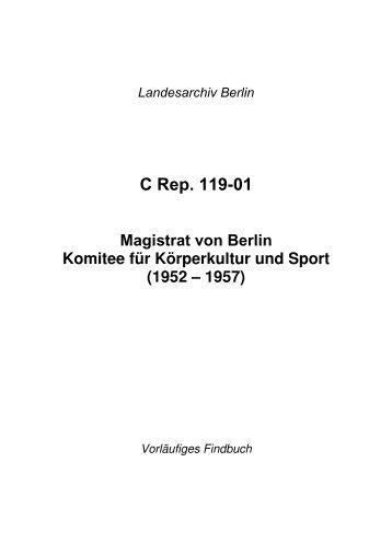 C Rep. 119-01 - Landesarchiv Berlin