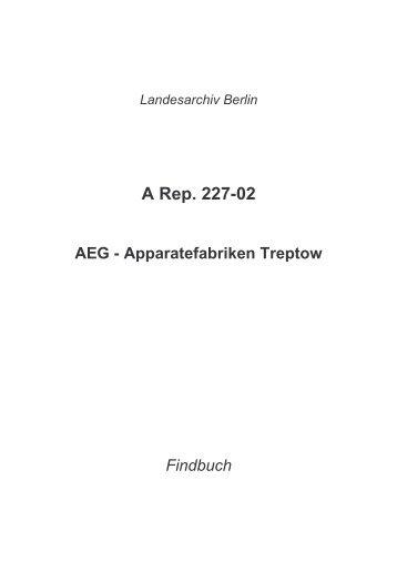 A Rep. 227-02 - Landesarchiv Berlin