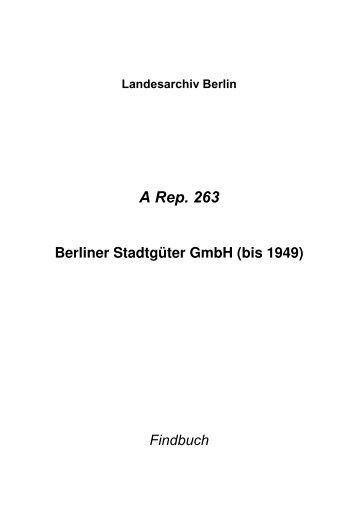 A Rep. 263 - Landesarchiv Berlin