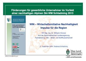 Wirtschaftsinitiative Nachhaltigkeit - Landentwicklung - Steiermark