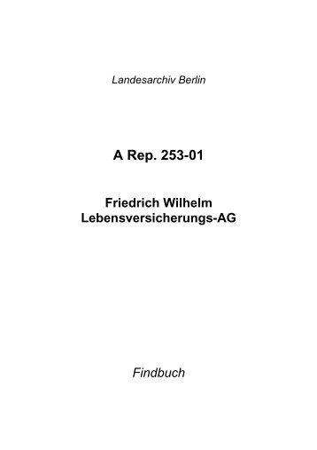 A Rep. 253-01 - Landesarchiv Berlin