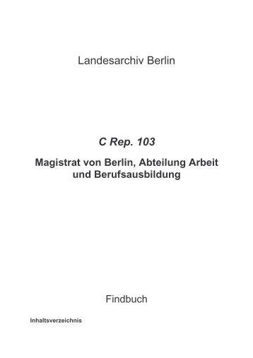 C Rep. 103 - Landesarchiv Berlin
