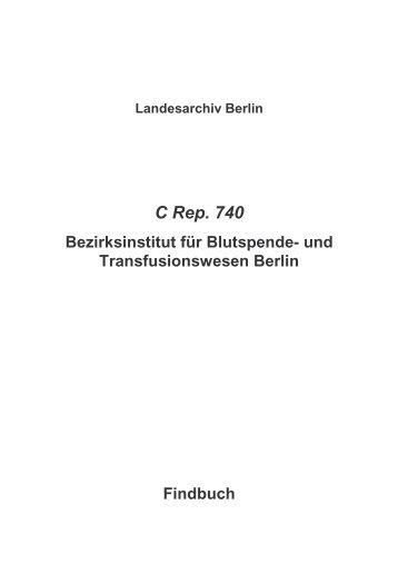 C Rep. 740 - Landesarchiv Berlin