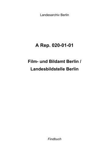 A Rep. 020-01-01 - Landesarchiv Berlin