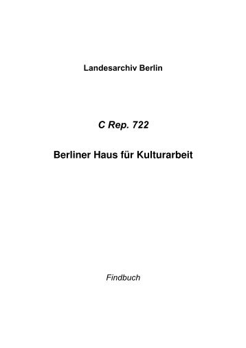C Rep. 722 - Landesarchiv Berlin