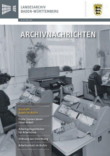 Archivnachrichten Nr. 46 , März 2013 (application/pdf 2.8 MB)