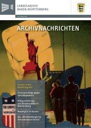 Archivnachrichten Nr. 36 , März 2008 - Landesarchiv Baden ...