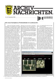 Archivnachrichten Nr. 33 - Landesarchiv Baden Württemberg