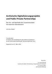 Julia Anna Riedel, Archivische Digitalisierungsprojekte und Public