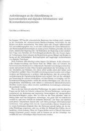 Anforderungen an die Aktenführung in konventionellen und ...