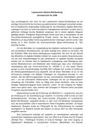 Jahresbericht 2006 (application/pdf 177.5 KB) - Landesarchiv ...