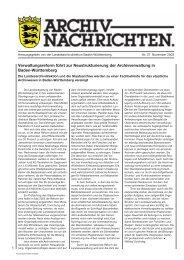 Archivnachrichten Nr. 27 , November 2003 (application/pdf 700.6 KB)