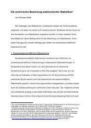 Bewertung elektronischer Statistiken - Landesarchiv Baden ...