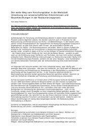 Anna Haberditzl, Der weite Weg vom Forschungslabor in die ...