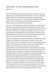 LUSD archivieren – die Lehrer- und Schülerdatenbank in Hessen ...