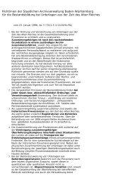 Richtlinien für die Bestandsbildung bei Unterlagen aus der Zeit des ...