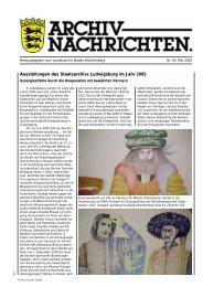 Archivnachrichten Nr. 30 , Mai 2005 (application/pdf 545.2 KB)