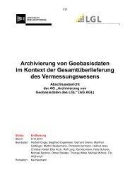 Archivierung von Geobasisdaten im Kontext der ...