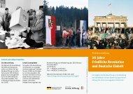 20 Jahre Friedliche Revolution und Deutsche Einheit