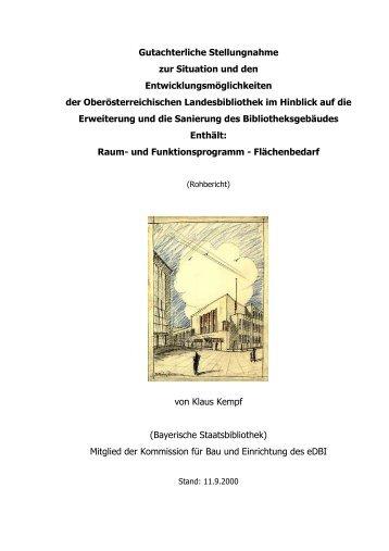Gutachterliche Stellungnahme - Oberösterreichische Landesbibliothek