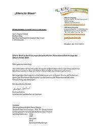 Offenen Brief - Landeselternrat Sachsen