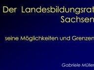 Power-Point-Präsentation - Landeselternrat Sachsen