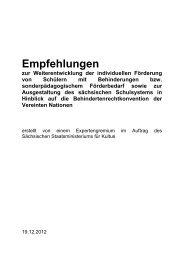 Empfehlungen zur - Landeselternrat Sachsen