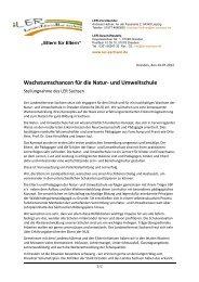 Stellungnahme des LER - Landeselternrat Sachsen
