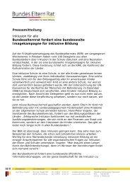 Pressemitteilung - Landeselternrat Sachsen
