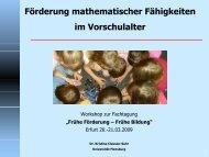 Förderung mathematischer Fähigkeiten im Vorschulalter