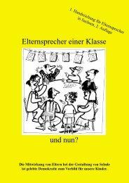 Elternsprecher einer Klasse und nun? - Landeselternrat Sachsen