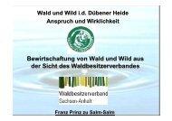 Bewirtschaftung von Wald und Wild aus der Sicht des ...