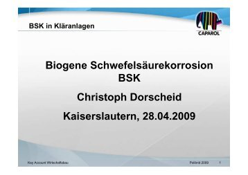 BSK in Kläranlagen